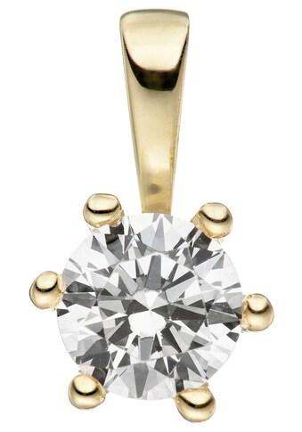 JOBO Kettenanhänger, 333 Gold mit Zirkonia kaufen