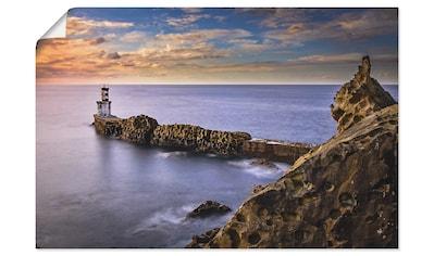 Artland Wandbild »Leuchtturm im Norden Spaniens«, Küste, (1 St.), in vielen Größen & Produktarten - Alubild / Outdoorbild für den Außenbereich, Leinwandbild, Poster, Wandaufkleber / Wandtattoo auch für Badezimmer geeignet kaufen