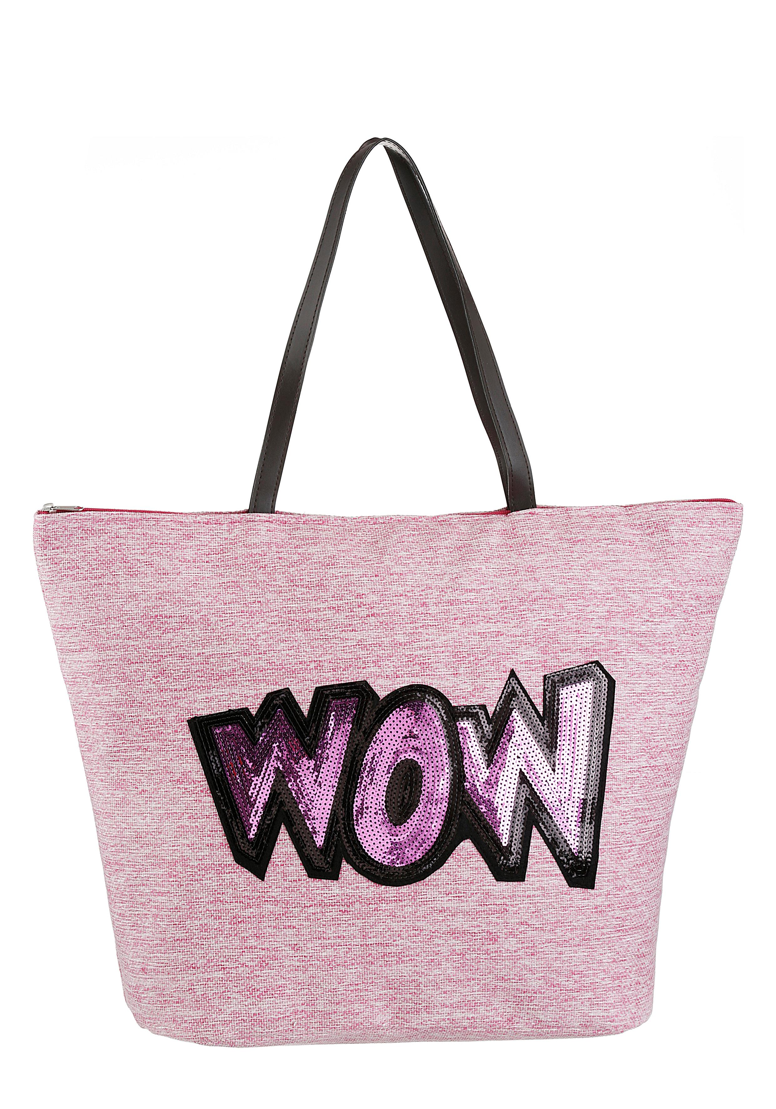 fabrizio -  Strandtasche, mit modischem Pailetten verziert