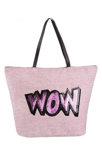 fabrizio® Strandtasche, mit modischem Pailetten verziert kaufen