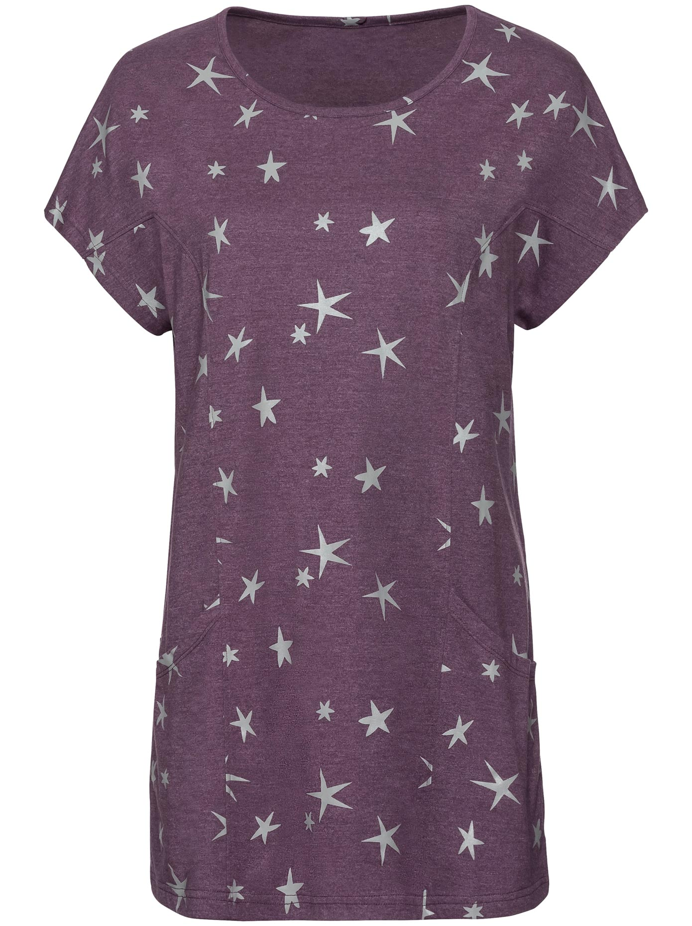 Longshirt im aktuellen Sternchen-Dessin | Bekleidung > Shirts > Longshirts | Lila