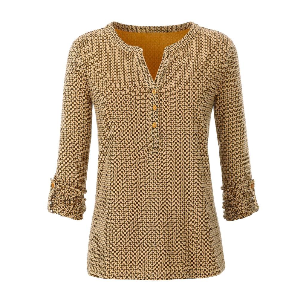 Ambria Shirt mit kurzer Knopfleiste