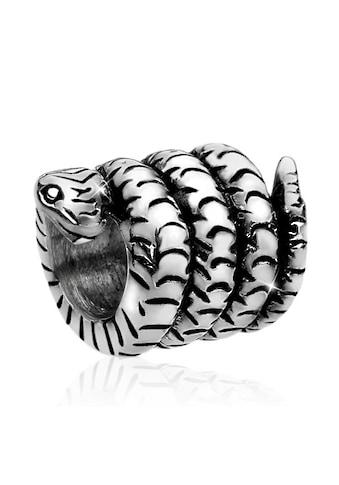 Nenalina Charm - Einhänger »Bead Silberanhänger Oxid Schlange Tier 925 Silber« kaufen