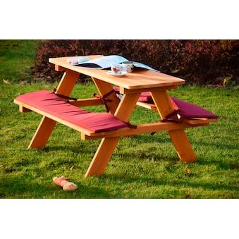 DOBAR Kinderpicknicktisch , B/L/H: 79/89/50 cm, für 4 Kinder kaufen
