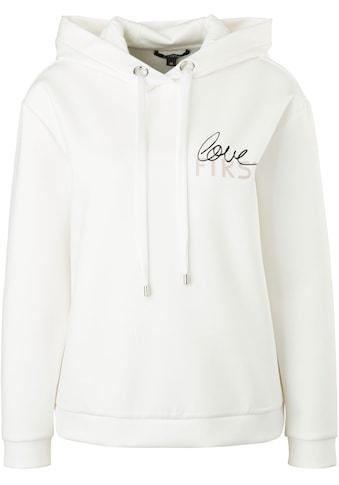 Comma Kapuzensweatshirt, mit Schriftzug aus hochwertigem Interlock-Jersey kaufen