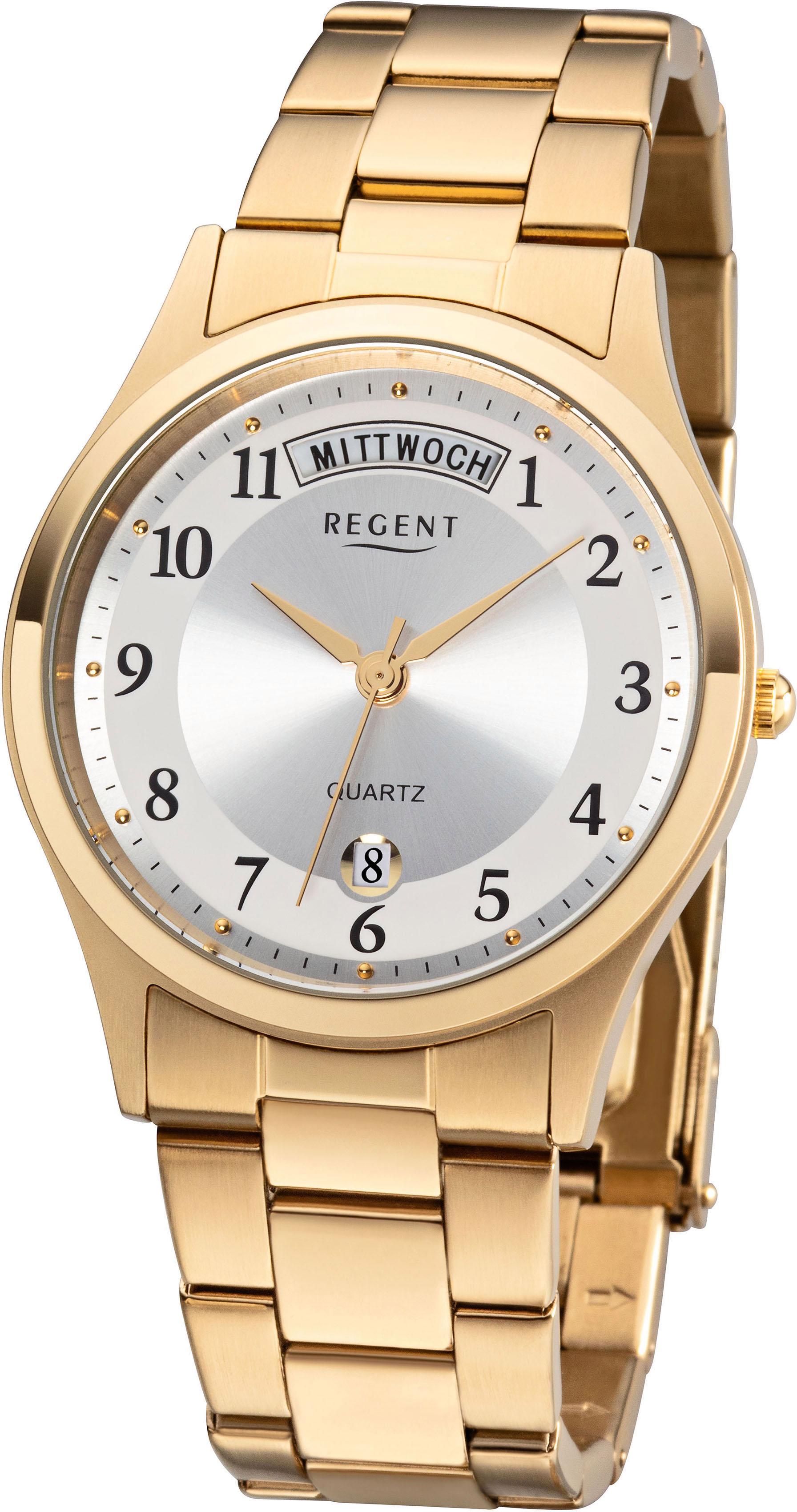Regent Quarzuhr »11140146« | Uhren > Quarzuhren | Goldfarben | REGENT
