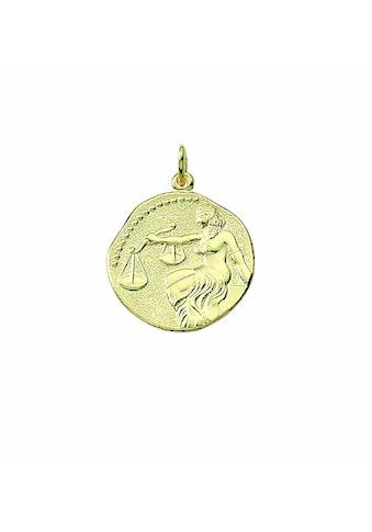 Adelia´s Anhänger Set »333 Gold Sternzeichen Anhänger Waage Ø 18,2 mm«, 333 Gold... kaufen