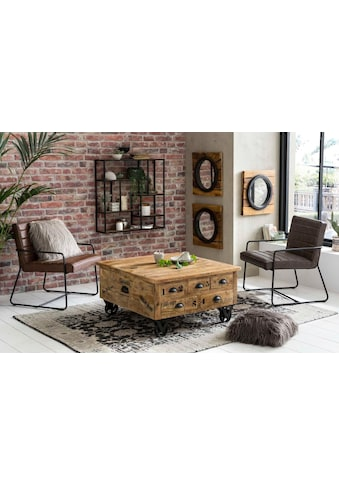 SIT Couchtisch »Rustic«, Rustic», im factory design, Breite 90 cm, Shabby Chic, Vintage, quadratisch kaufen