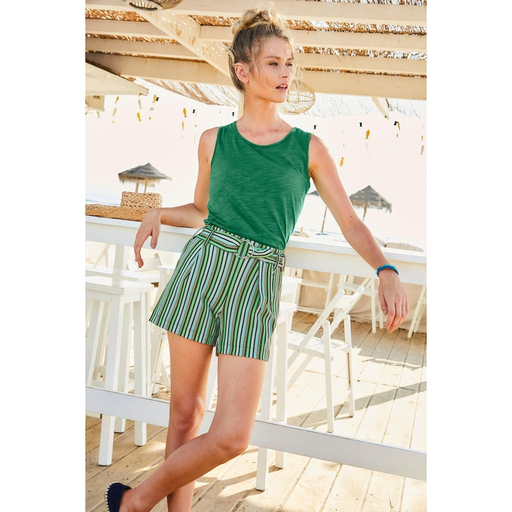 Aniston CASUAL Tanktop, mit Spitze am Saum