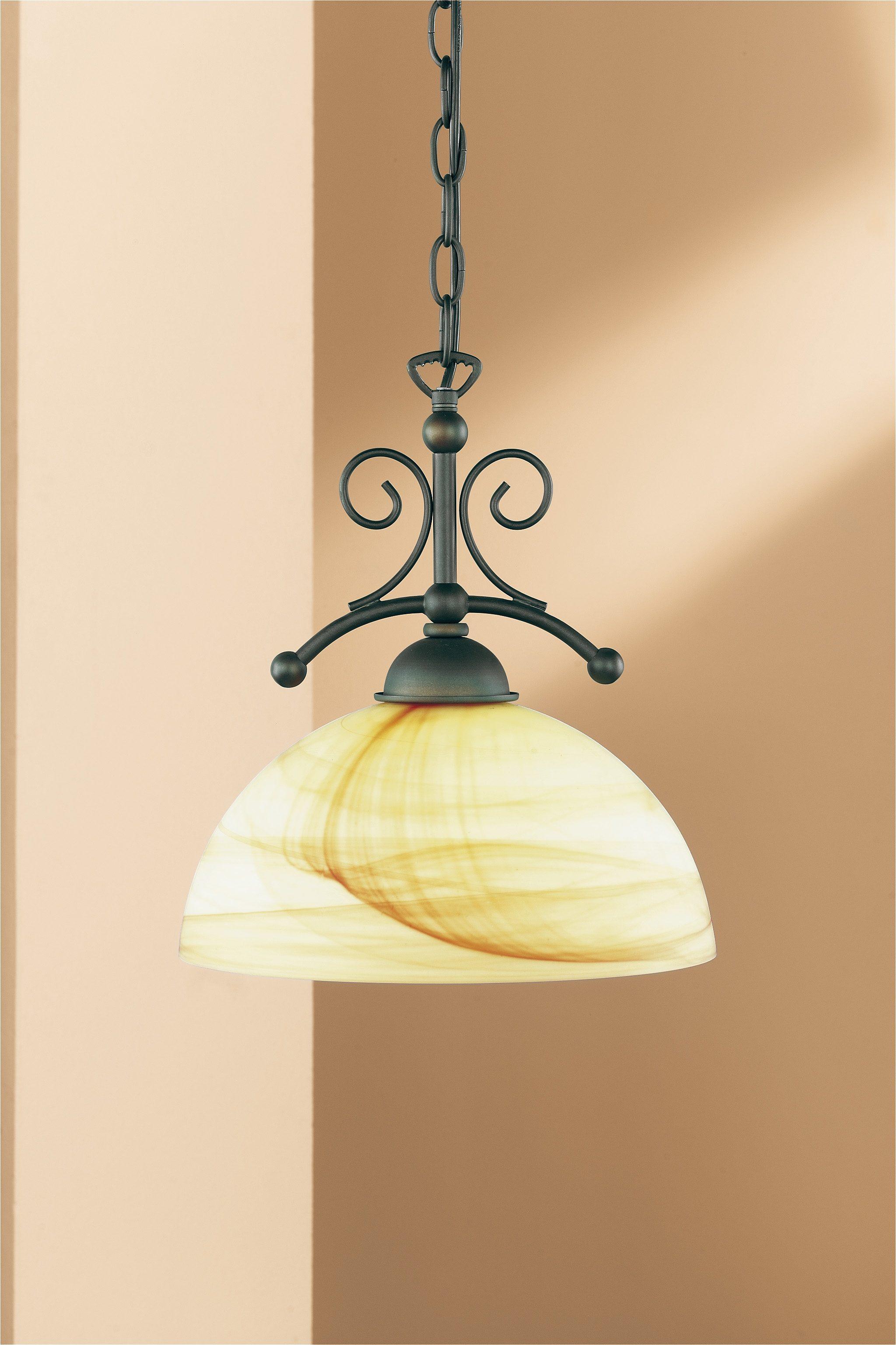 WOFI,Pendelleuchte»LACCHINO«,   Lampen > Deckenleuchten > Pendelleuchten   Braun   Glas   WOFI