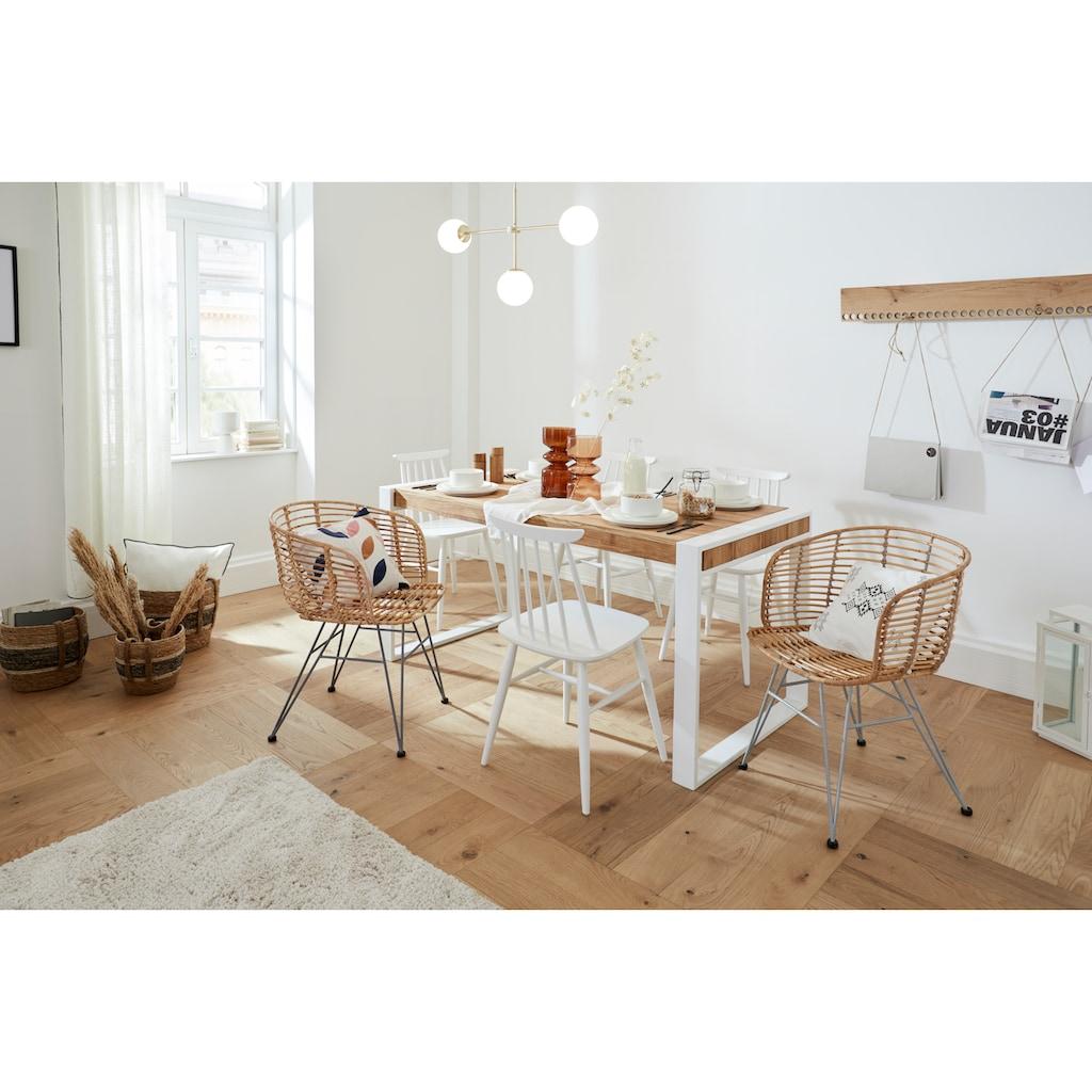Premium collection by Home affaire Esstisch »Nicholas«, Massive Eiche