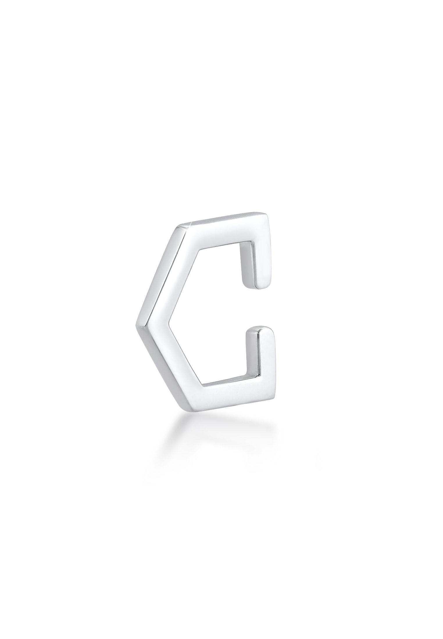 Elli Single-Ohrhaken Single Earcuff Geo Basic Minimal Trend 925 Silber | Schmuck > Ohrschmuck & Ohrringe > Ohrhaken | Elli