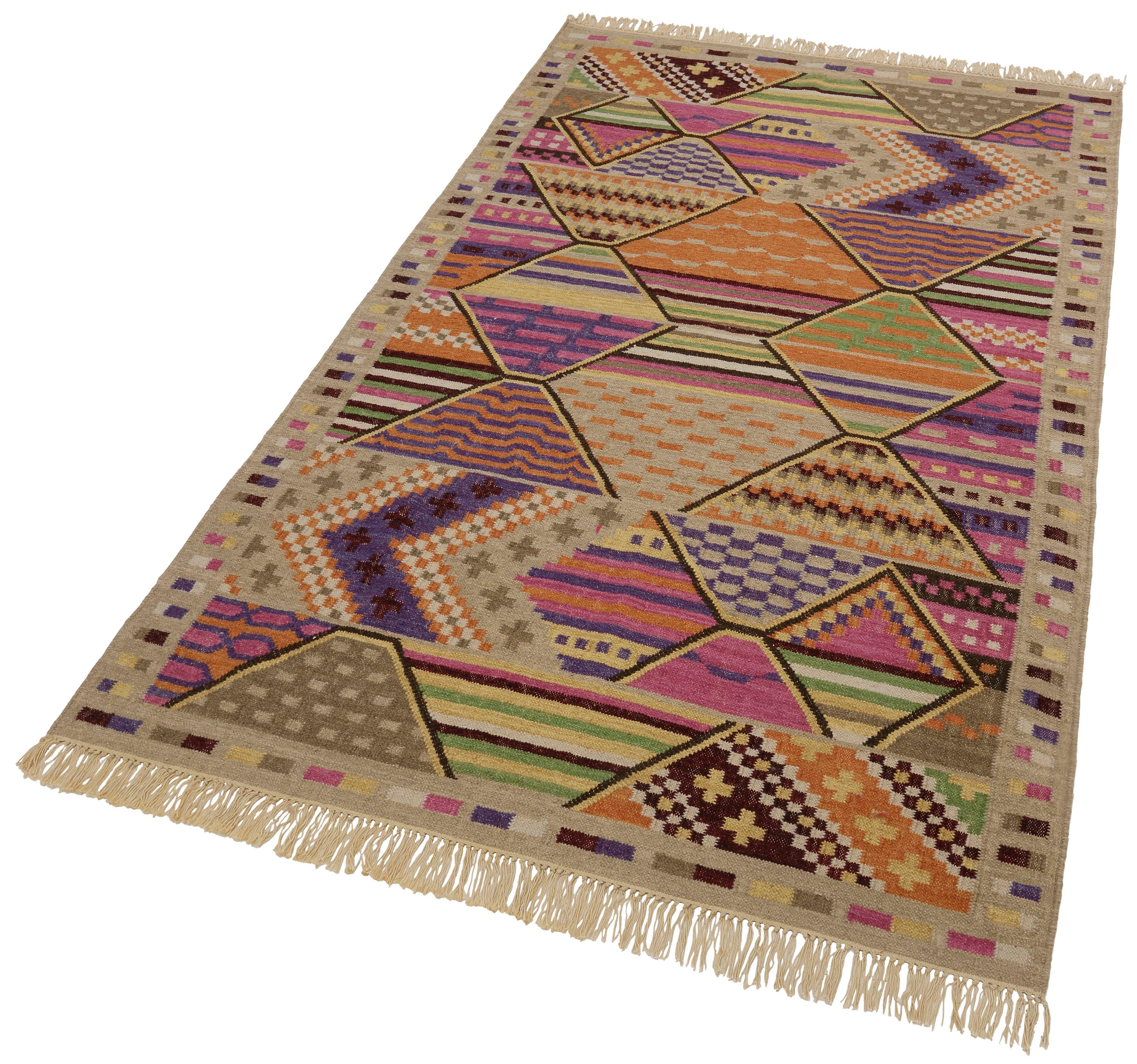 Teppich Kelim Royal 3 THEKO rechteckig Höhe 5 mm handgewebt