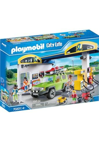 Playmobil® Konstruktions-Spielset »Große Tankstelle (70201), City Life«, (168 St.), Made in Europe kaufen