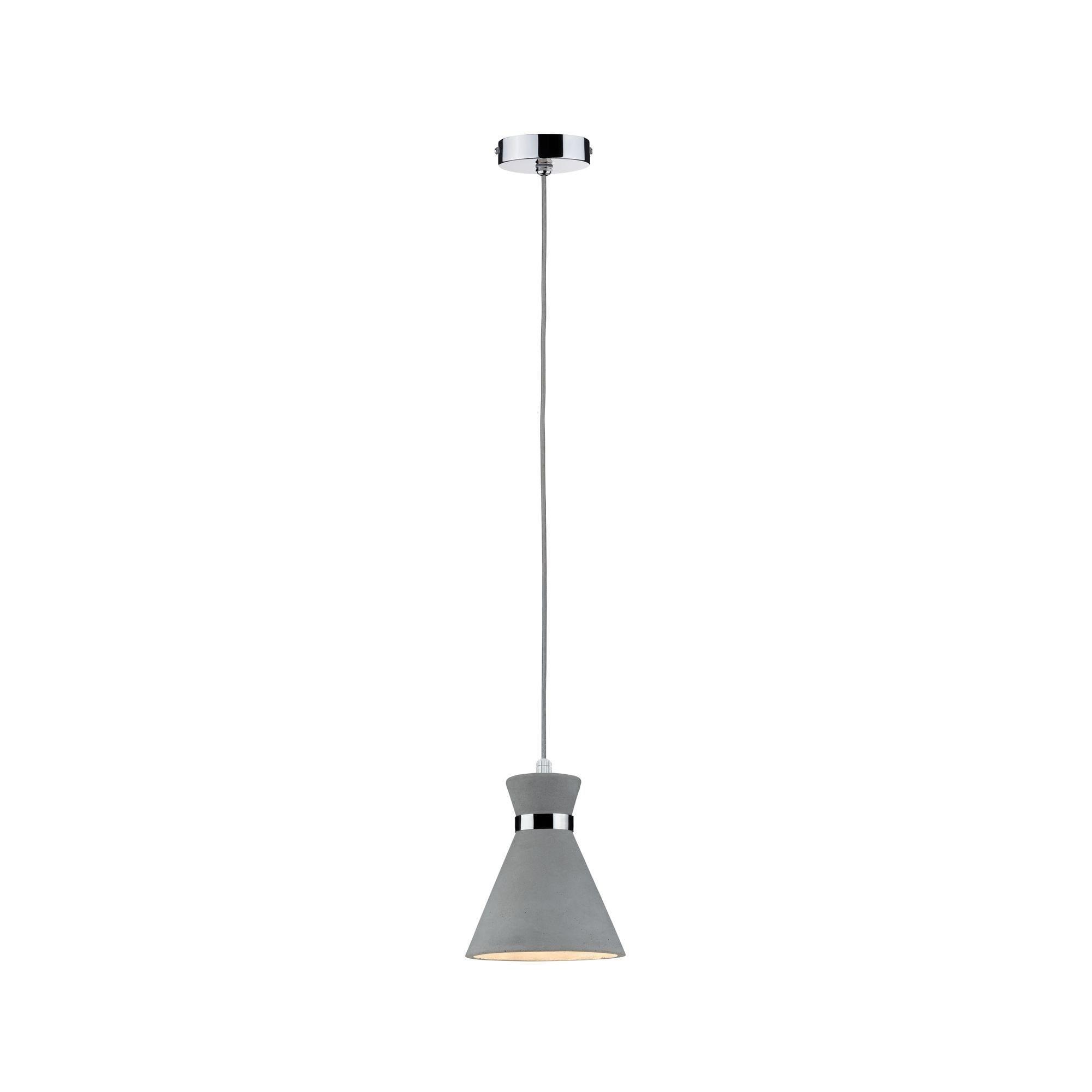 Paulmann LED Pendelleuchte Verve Beton/Chrom max. 20W E27, E27, 1 St.