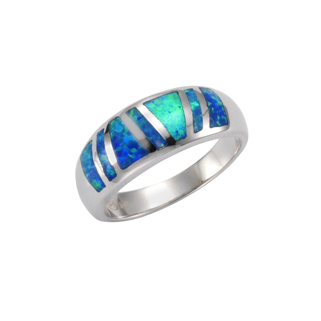 Vivance Fingerring »925/- Sterling Silber synth. Opal«, Ring