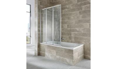 WELLTIME Badewannenaufsatz »Nassau«, 3 - tlg., silber kaufen