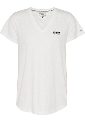 TOMMY JEANS V - Shirt »TJW LOGO SLUB TEE« kaufen