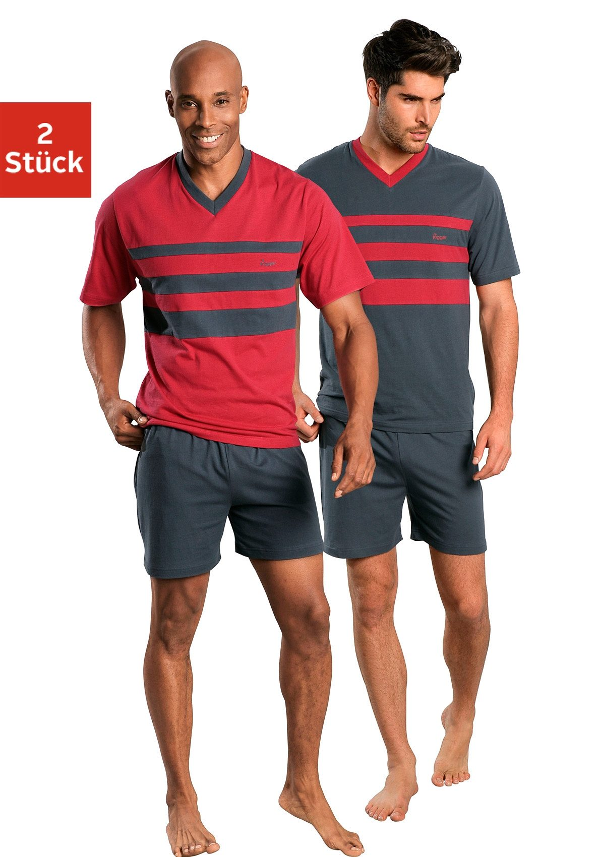 le jogger Shorty (2-tlg) | Bekleidung > Wäsche > Nachtwäsche | Bunt | Le Jogger
