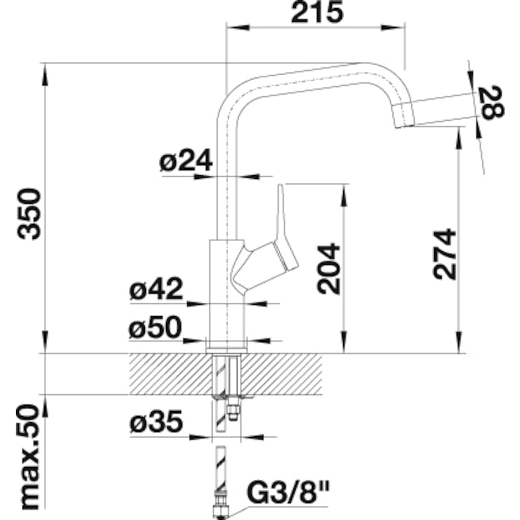 Blanco Küchenarmatur »JURENA«, Hochdruck