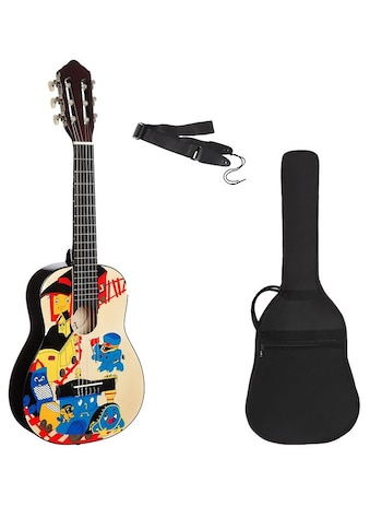 Konzertgitarre »Konzertgitarren Set 1/4 mit Zug Motiv«, 1/4 kaufen