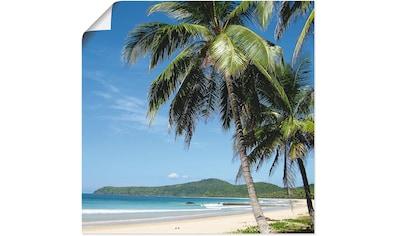 Artland Wandbild »Strand mit Palmen«, Strandbilder, (1 St.), in vielen Größen &... kaufen