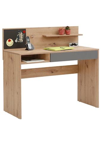 my home Schreibtisch »Magnet«, inklusive einer Magnettafel, einer großen Arbeitsfläche, mit Schubkasten und Ablageboden, in zwei verschiedenen Farbvarianten, Breite 110 cm kaufen