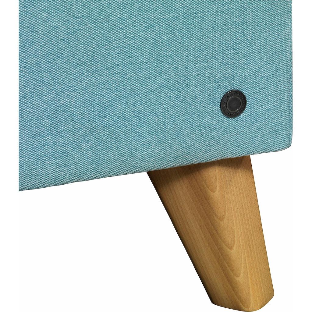 TOM TAILOR Boxspringbett »NORDIC BOX«, mit Knopfheftung im Kopfteil und Fußteil
