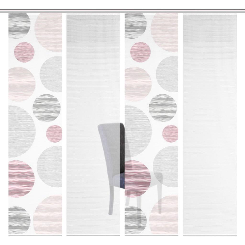 Vision S Schiebegardine »4ER SET BORDEN«, HxB: 260x60, Schiebevorhang 4er Set Digitaldruck