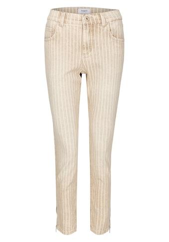 ANGELS Jeans,Skinny Ankle Zip' in gestreiftem Design kaufen