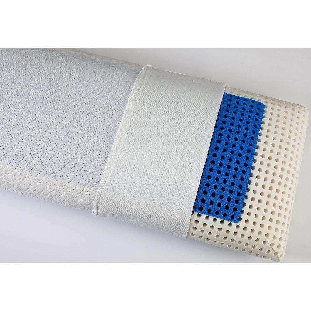 """DI QUATTRO Nackenstützkissen »""""Memory Dream"""" Blue Style Airline«, Füllung: Viscoschaum mit farbiger Viscoeinlage und Luftkanälen, Bezug: 100% Polyester, (1 St.)"""