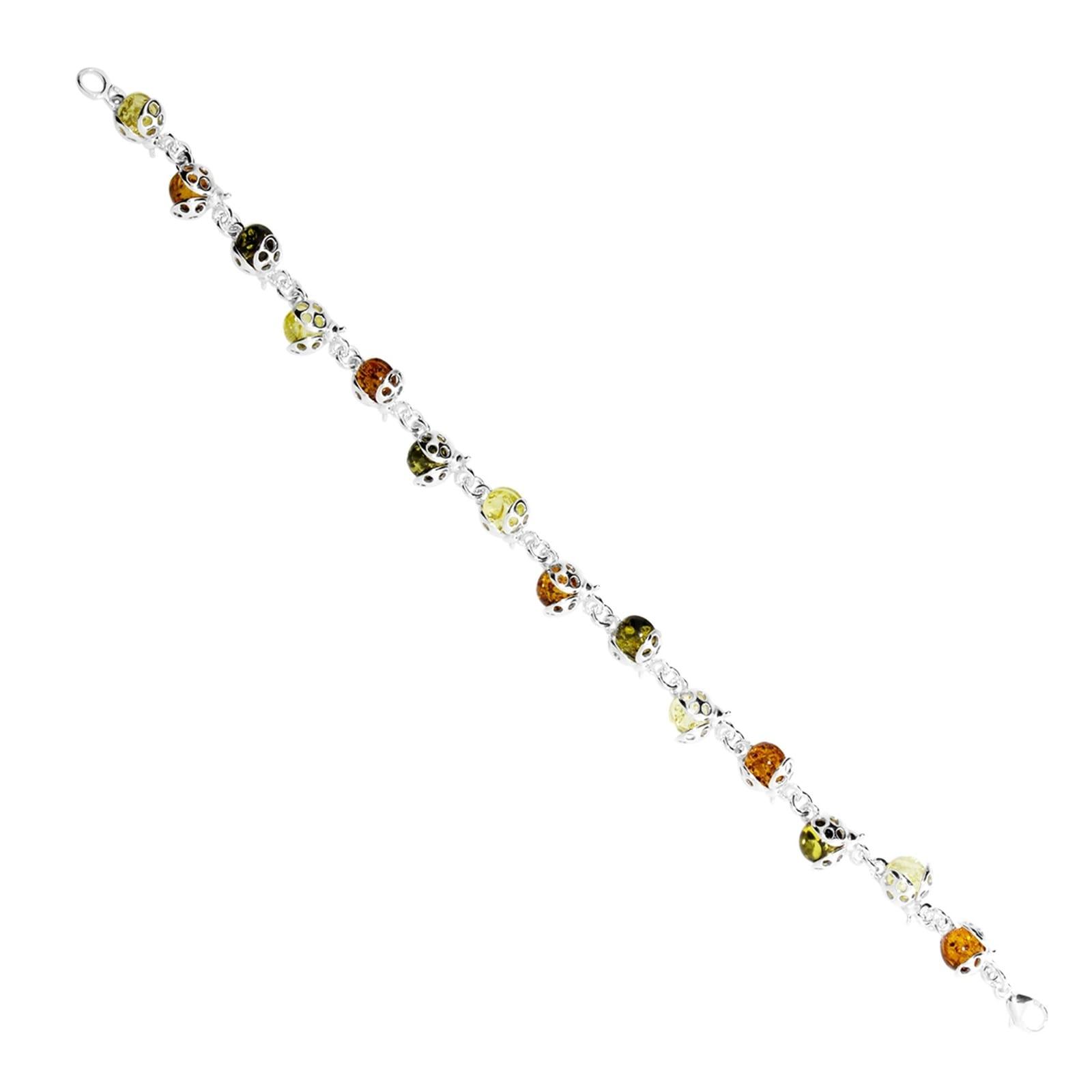 OSTSEE-SCHMUCK Armband Marienkäfer Silber 925/000 Bernstein | Schmuck > Armbänder > Silberarmbänder | Ostsee-Schmuck