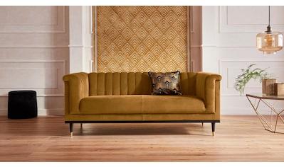 Guido Maria Kretschmer Home&Living 2-Sitzer »Chamby«, mit Holzrahmen unten und Steppung im Lehnenbereich kaufen