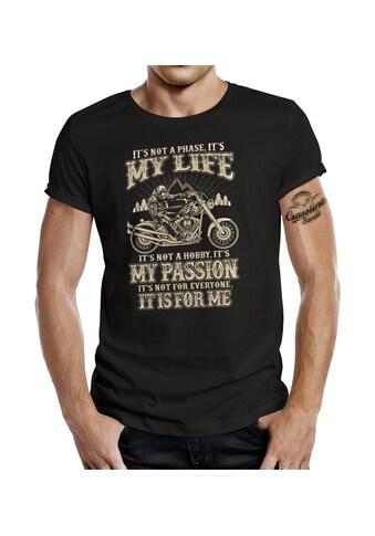 GASOLINE BANDIT® T - Shirt mit coolem Statement - Print »My Life is not a Hobby« kaufen