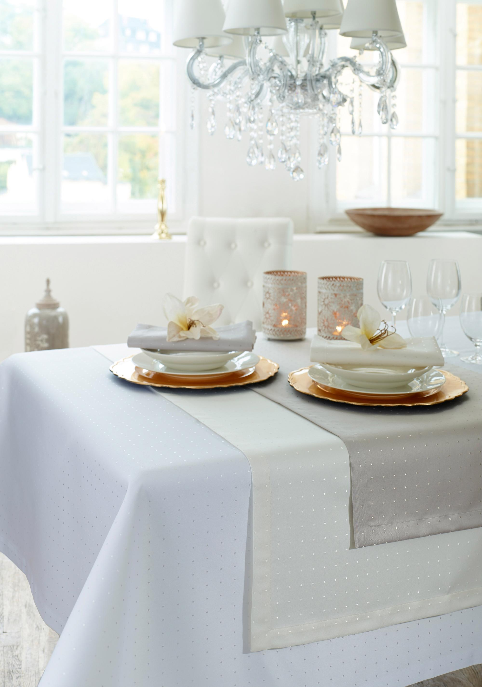 Curt Bauer Stoffserviette Damast, 3815 Petito, (Set, 2 St.) beige Stoffservietten Tischwäsche