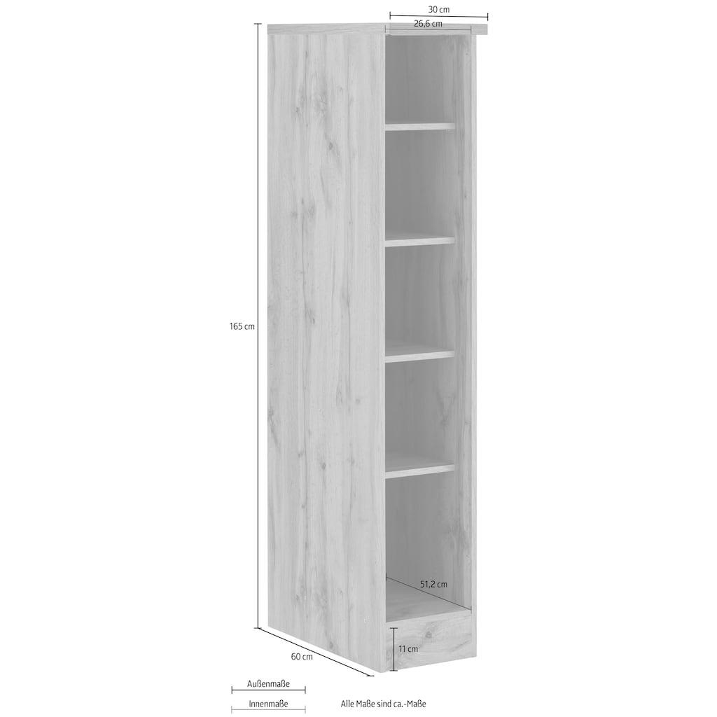 HELD MÖBEL Regal »Colmar«, 30 cm breit, 165 cm hoch, 4 verstellbare Einlegeböden, für viel Stauraum