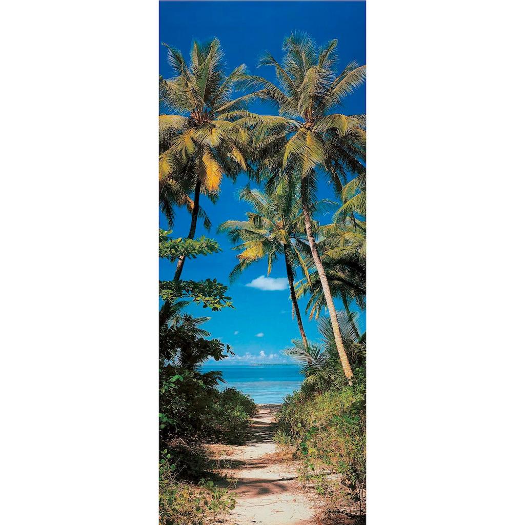 Papermoon Fototapete »Beach Path - Türtapete«, matt, Vlies, 2 Bahnen, 90 x 200 cm