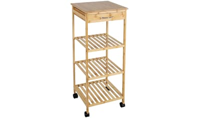 axentia Standregal »Küchenschrank, Bambus, mit Rollen« kaufen