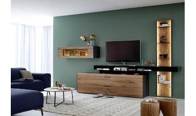 SCHÖNER WOHNEN-Kollektion Wohnwand »YORIS V20«, 4 tlg. Kombination, Regal rechts kaufen