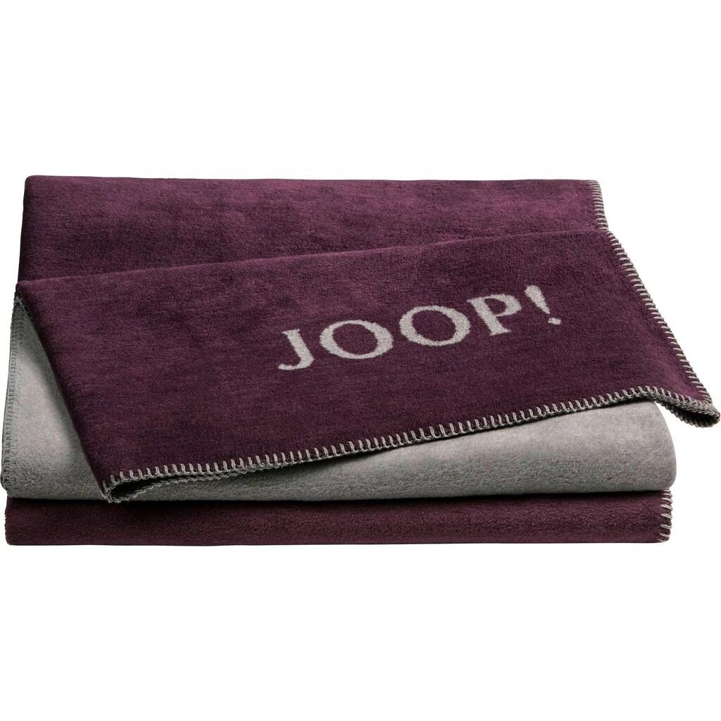 Joop! Wohndecke »JOOP! UNI-DOUBLEFACE«, mit JOOP! Logo