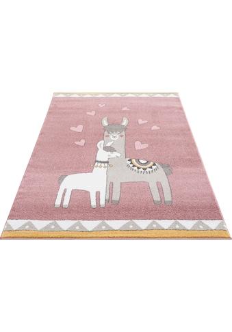 Kinderteppich, »Lamas«, Lüttenhütt, rechteckig, Höhe 14 mm, maschinell gewebt kaufen
