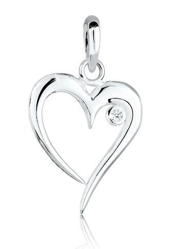Diamore Kettenanhänger »Herz Basic Diamant (0.03 ct.) 925er Silber« kaufen