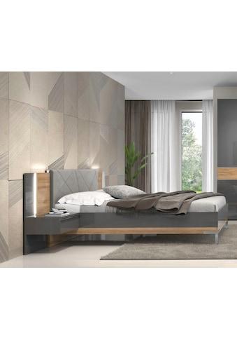 Places of Style Bettgestell »Onyx«, mit gepolstertem Kopfteil, Liegefläche 160x200 cm kaufen
