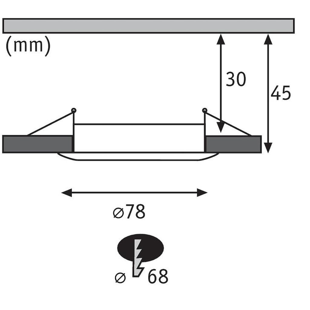 Paulmann LED Einbaustrahler »dimmbar IP44 rund Weiß Coin Slim 6,8W«, 3 St., Warmweiß
