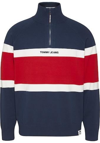 Tommy Jeans Strickpullover »TJM COLORBLOCK MOCK NECK SWEATER« kaufen