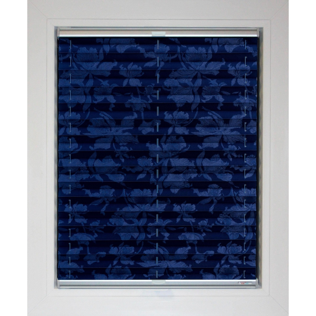 sunlines Plissee nach Maß »Blue Line«, Lichtschutz, energiesparend, mit Bohren, verspannt, Blüten-Muster