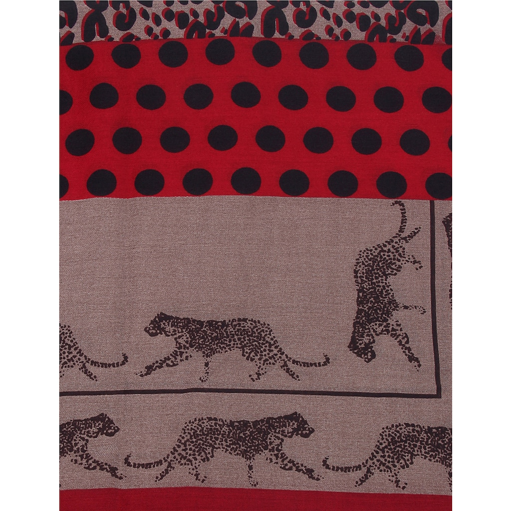 leslii Schal, mit trendigem Leopardenmuster