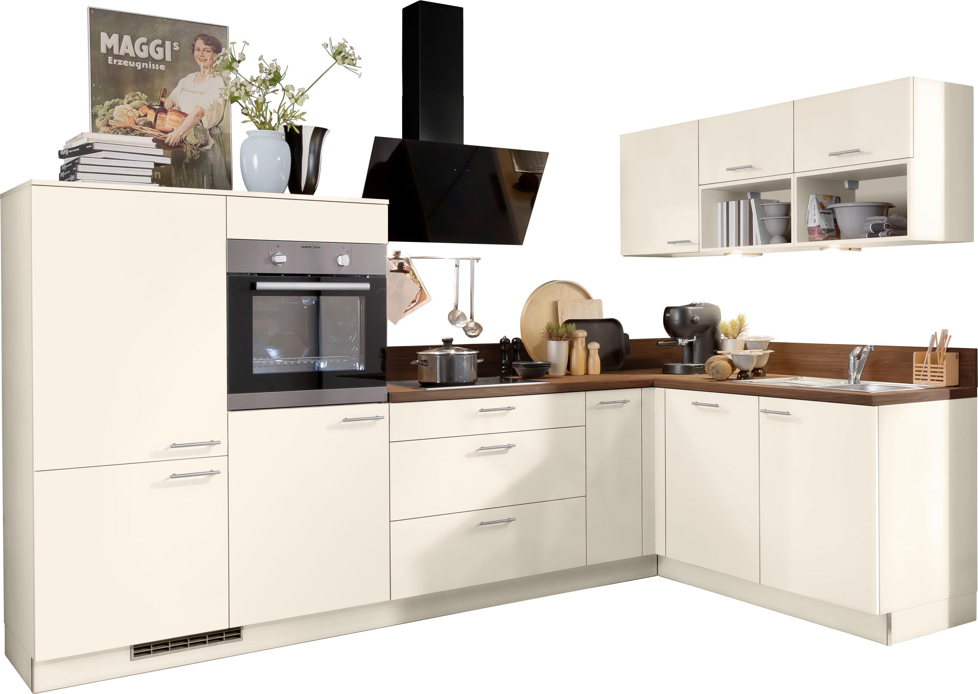 Express Küchen Winkelküche Scafa ohne E-Geräte Stellbreite 305 x 185 cm | Küche und Esszimmer > Küchen > Winkelküchen | Rosa | Express Küchen