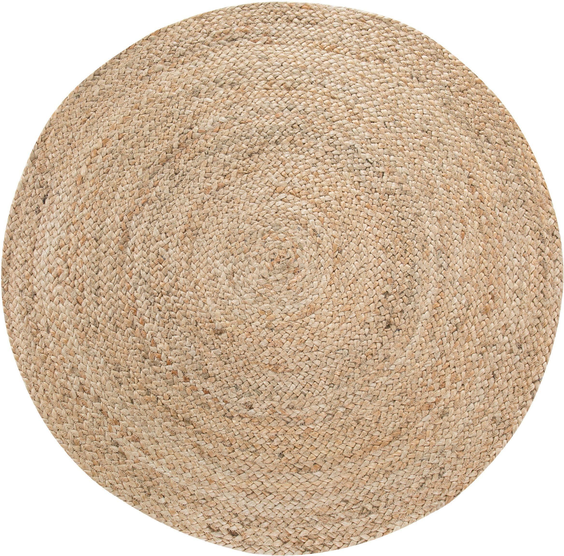 Teppich Mamda 2 LUXOR living rund Höhe 4 mm manuell geknüpft Wohnen/Wohntextilien/Teppiche/Naturteppiche/Juteteppiche