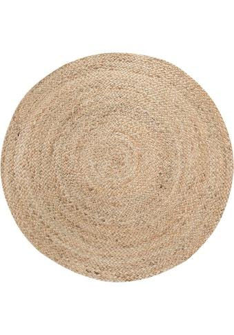 LUXOR living Teppich »Mamda 2«, rund, 4 mm Höhe, 100% Naturfaser, handgearbeitet, Boho-Style, Wohnzimmer kaufen